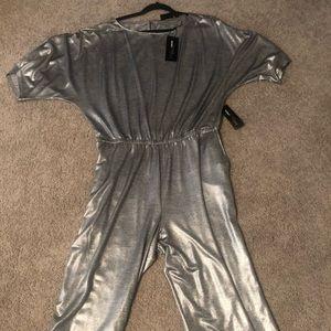 NY & C Gabrielle Union NWT Metallic Jumpsuit